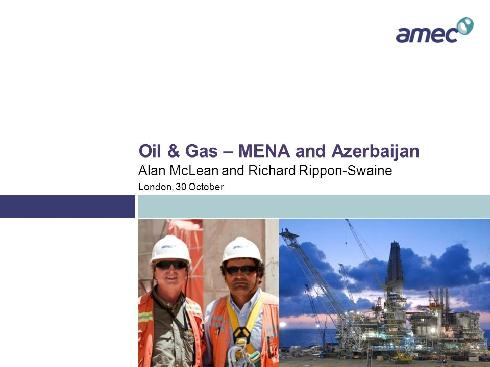 Oil & Gas - MENA The market