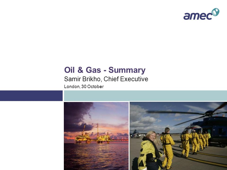 Summary - One AMEC approach Integrated strategy and structure