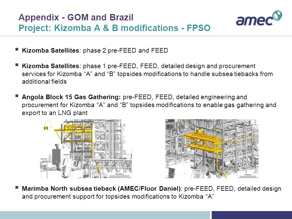 Appendix - GOM and Brazil Project: Kizomba Satellites – project execution