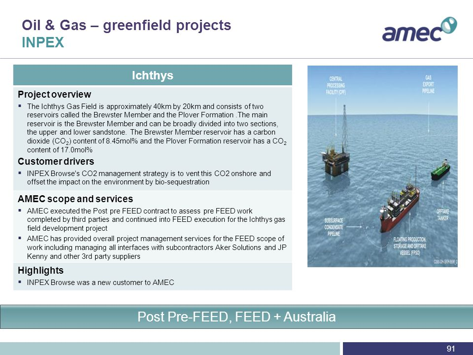 Oil & Gas – North Sea greenfield projects Shell/Esso