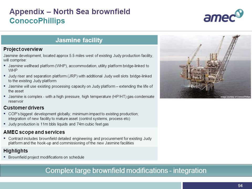 Oil & Gas – North Sea brownfield projects ConocoPhillips