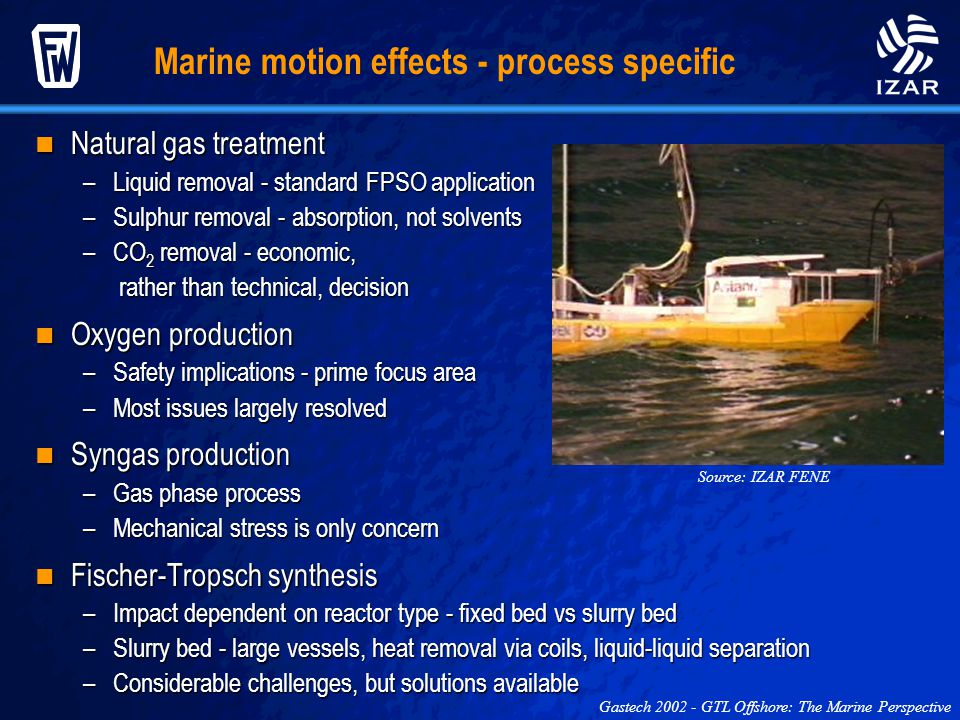 Marine motion effects - process specific