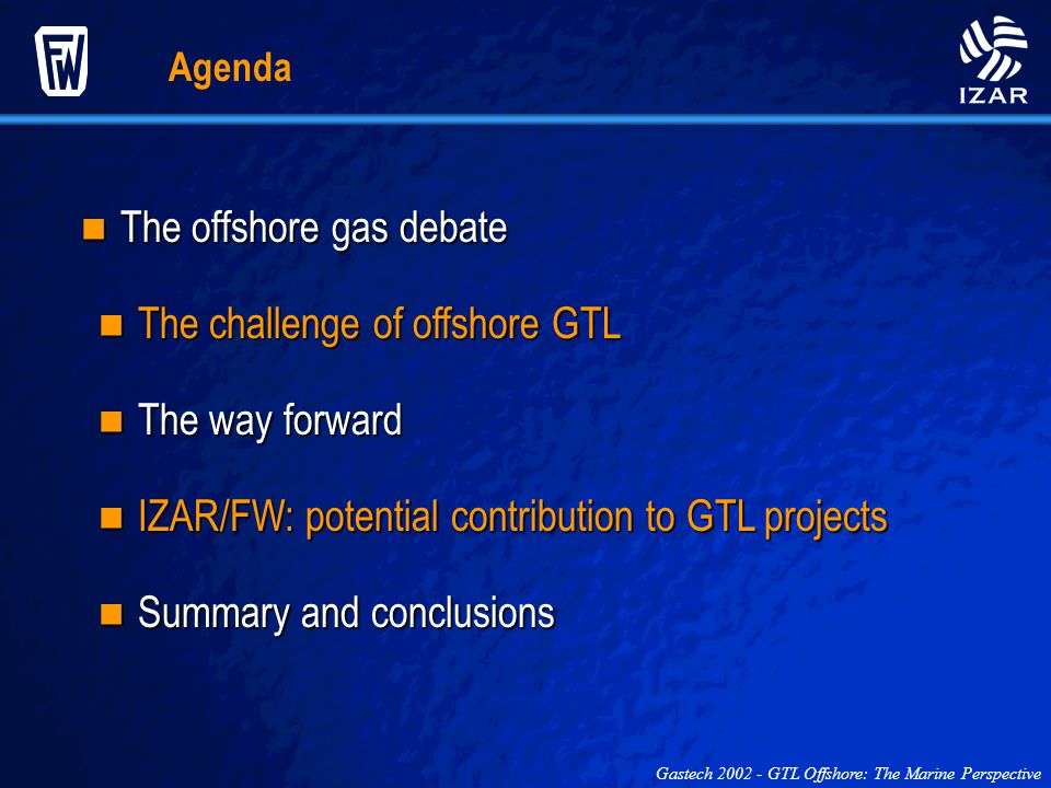 The offshore gas debate