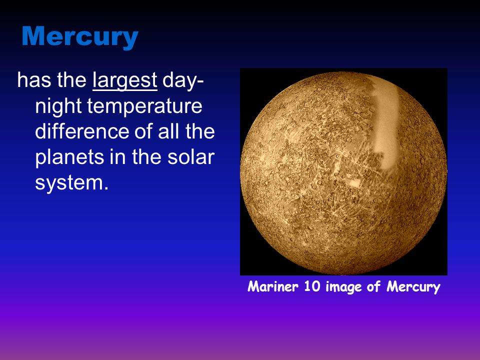Mariner 10 image of Mercury