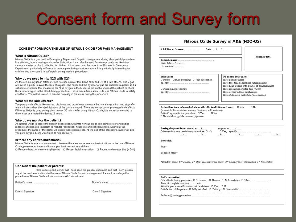 Consent form and Survey form