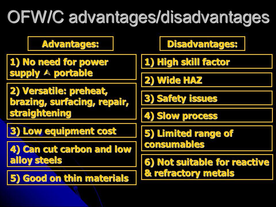 OFW/C advantages/disadvantages