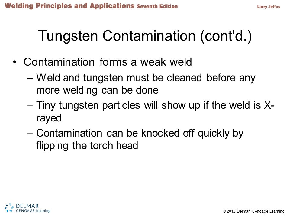 Tungsten Contamination (cont d.)