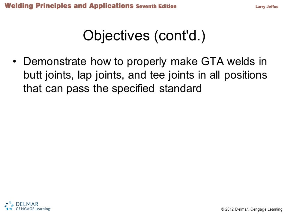 Objectives (cont d.)