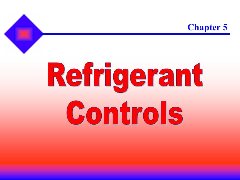 Chapter 5 Refrigerant Controls