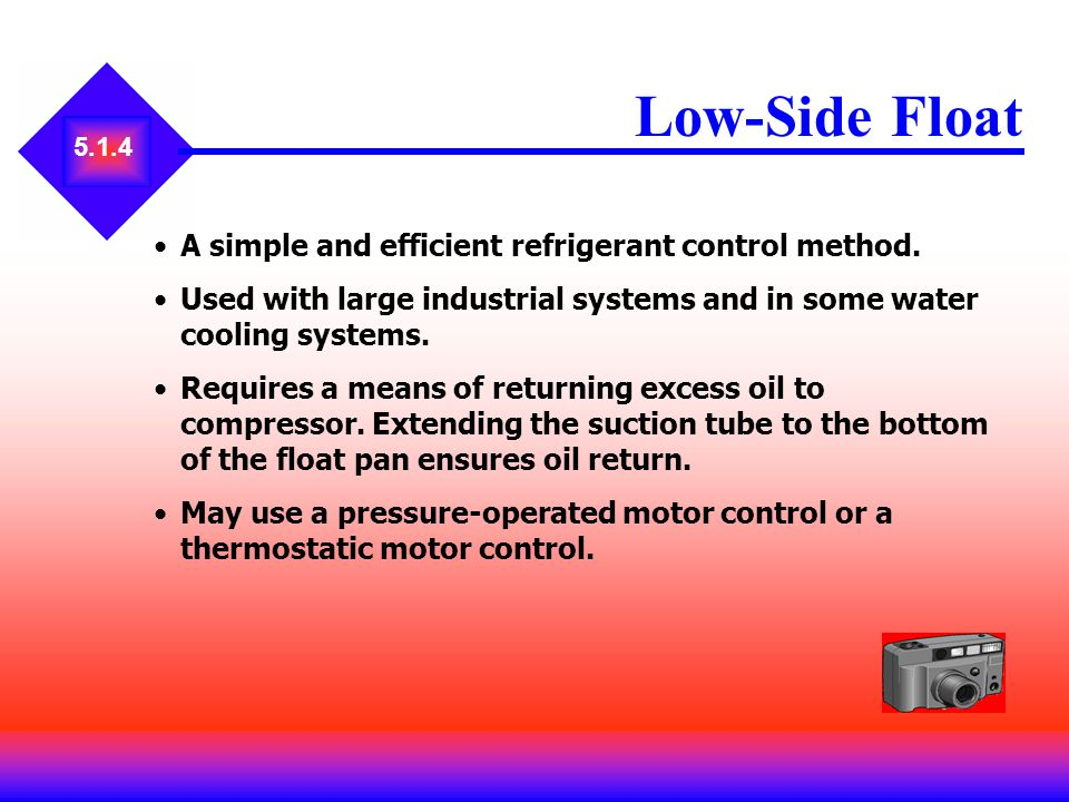 Low-Side Float A simple and efficient refrigerant control method.