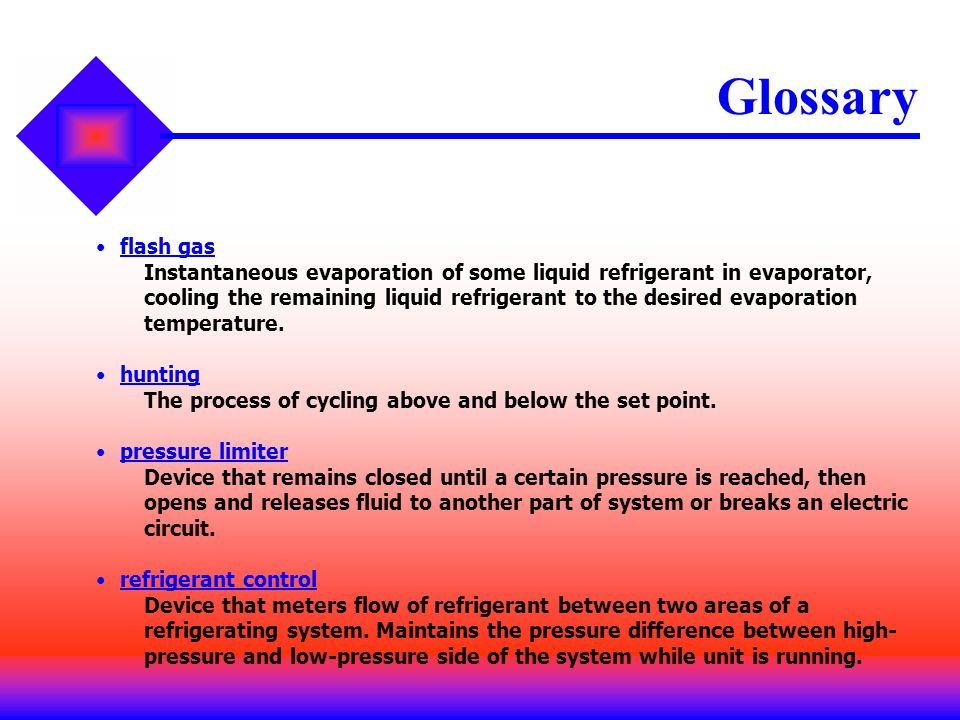 Glossary flash gas.