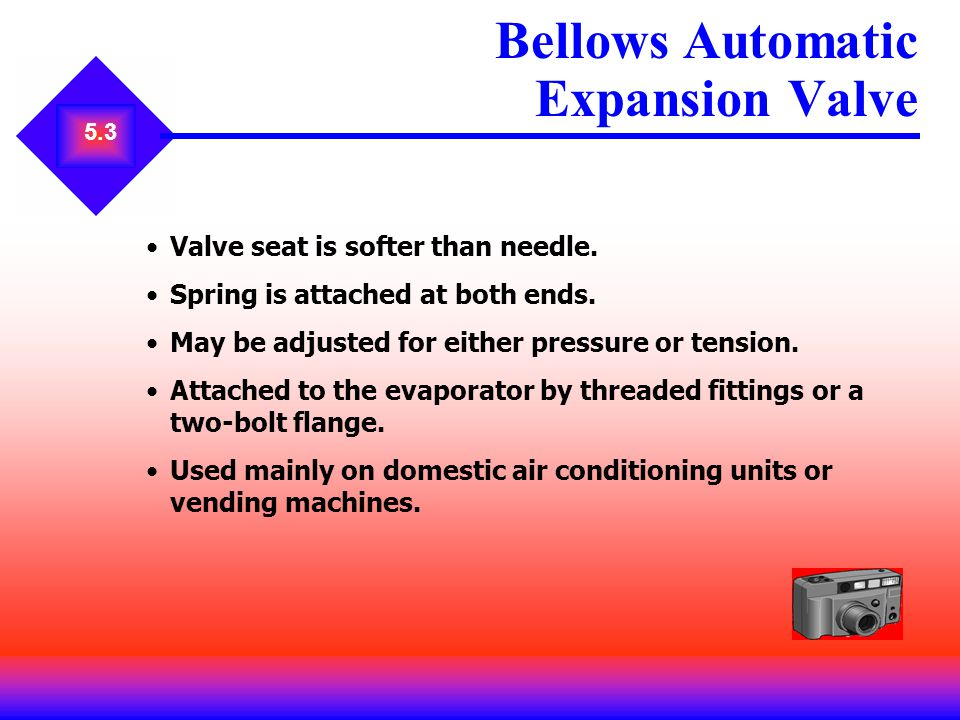 Bellows Automatic Expansion Valve