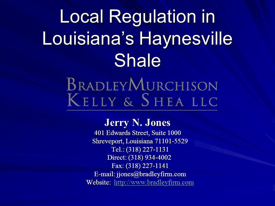 Local Regulation in Louisiana's Haynesville Shale
