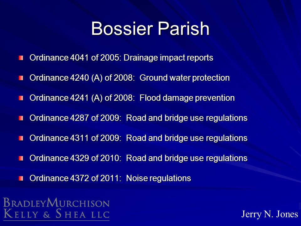 Bossier Parish Jerry N. Jones