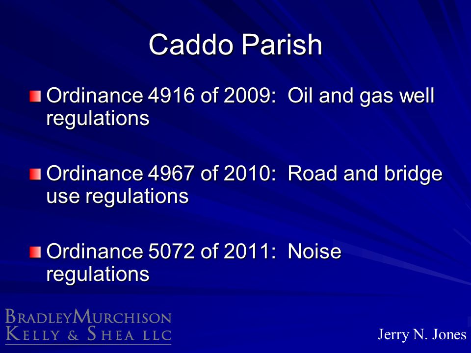 Caddo Parish Ordinance 4916 of 2009: Oil and gas well regulations