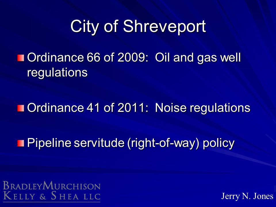City of Shreveport Ordinance 66 of 2009: Oil and gas well regulations