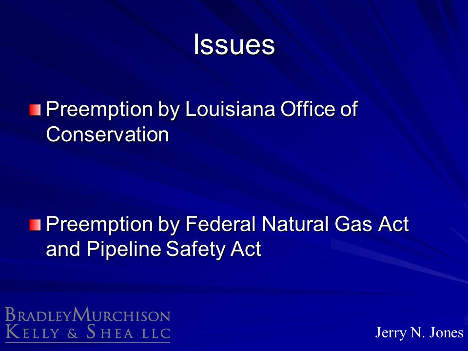 Issues Preemption by Louisiana Office of Conservation