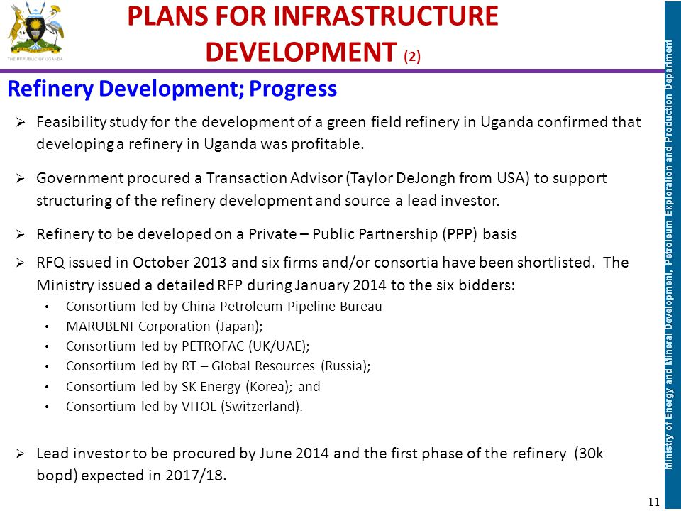 PLANS FOR INFRASTRUCTURE DEVELOPMENT (2)