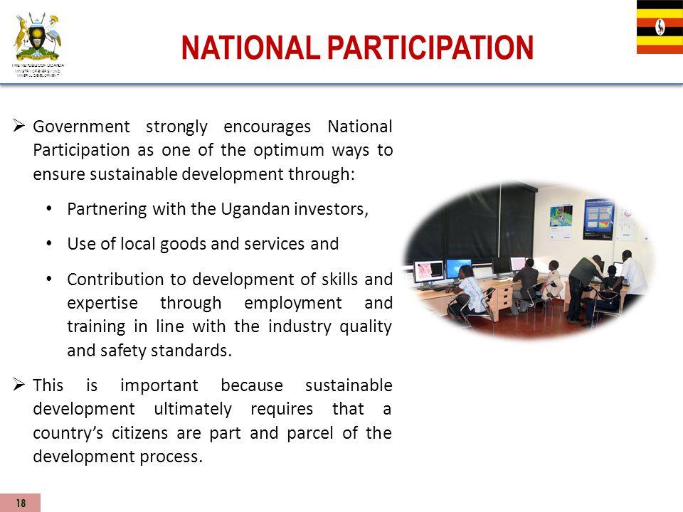 NATIONAL PARTICIPATION