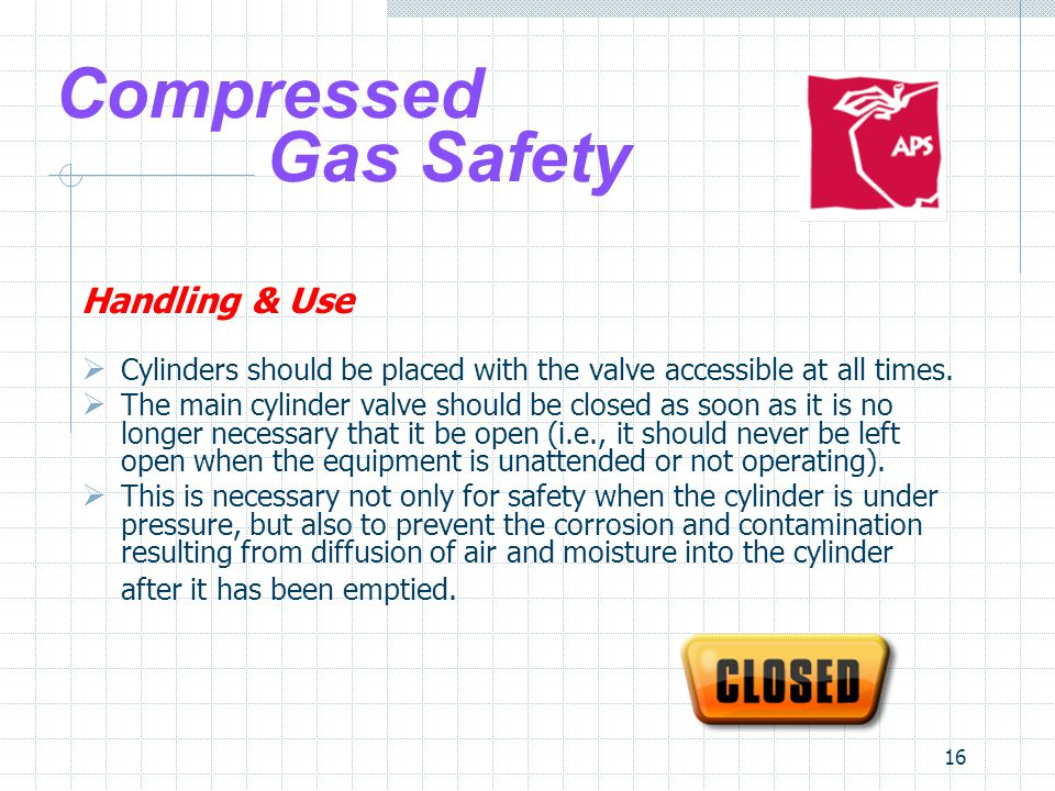 Compressed Gas Safety Handling & Use