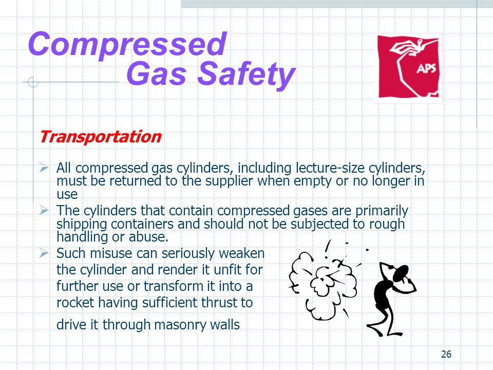 Compressed Gas Safety Transportation