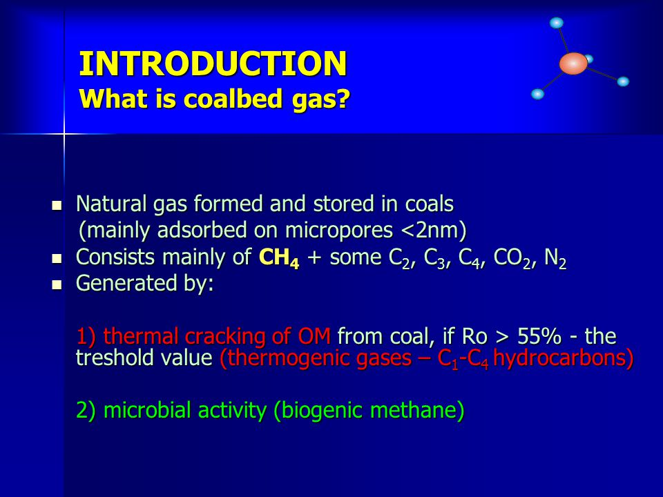 INTRODUCTION What is coalbed gas