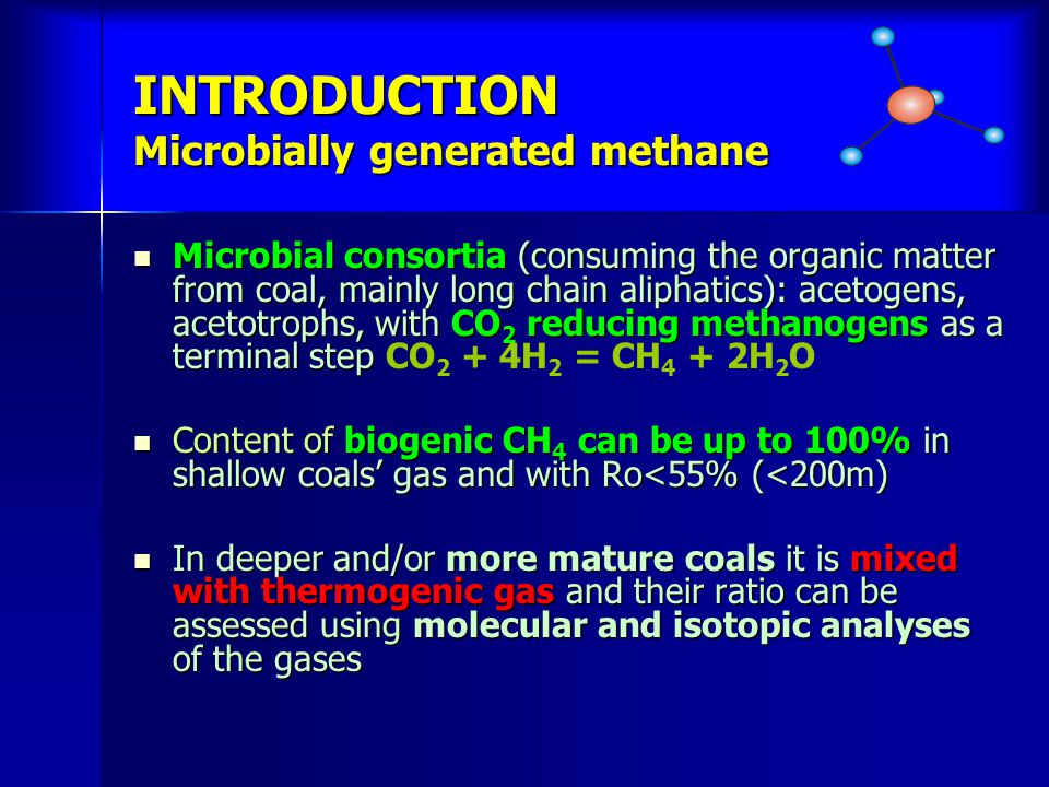 INTRODUCTION Microbially generated methane