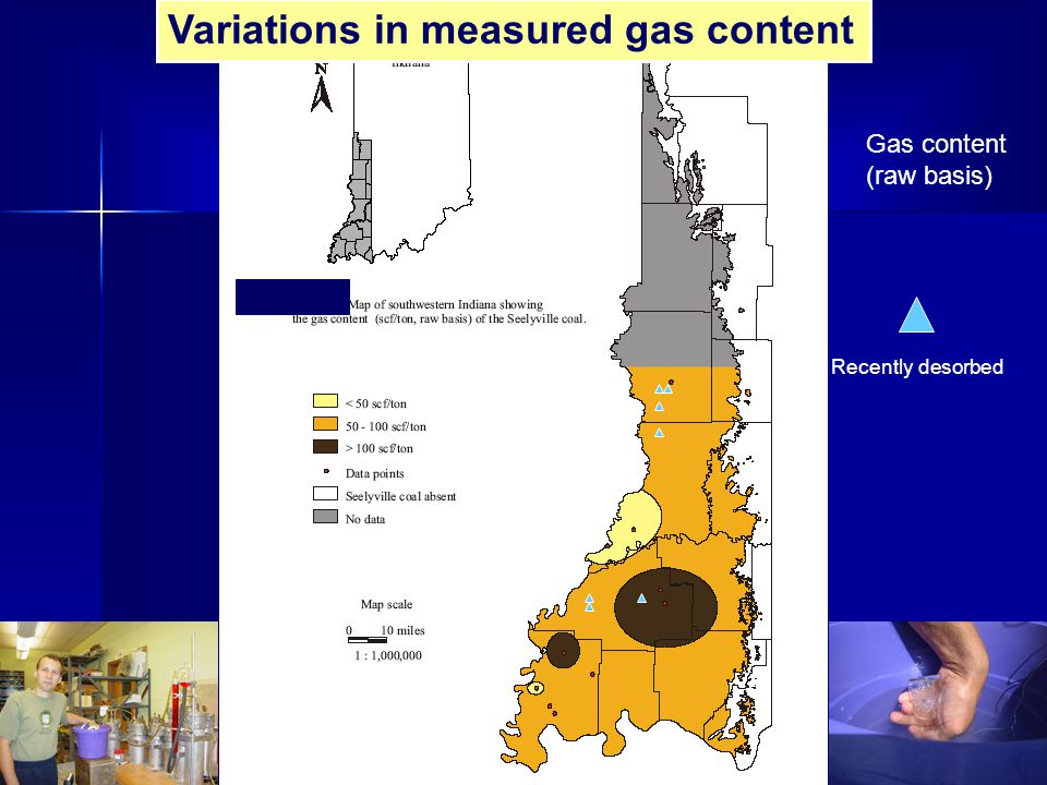 Variations in measured gas content