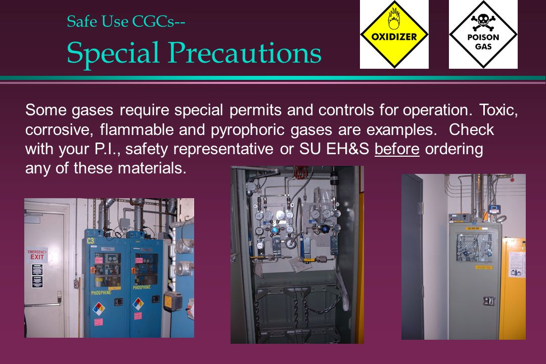 Safe Use CGCs-- Special Precautions