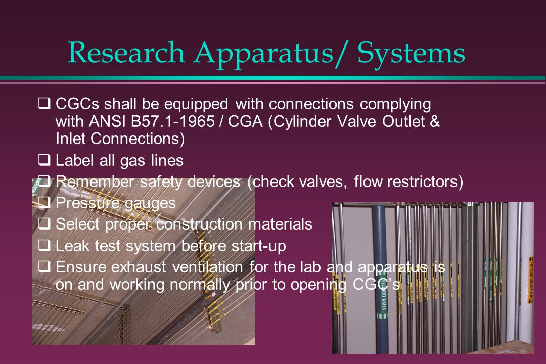 Research Apparatus/ Systems