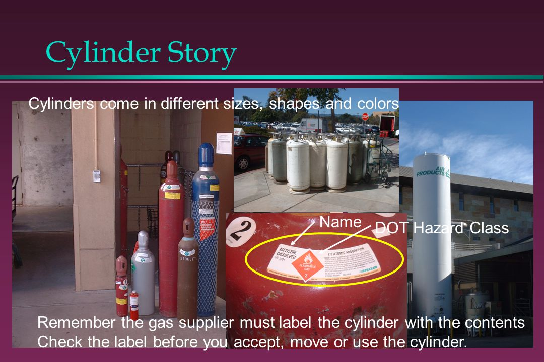 Cylinder Story Cylinders come in different sizes, shapes and colors