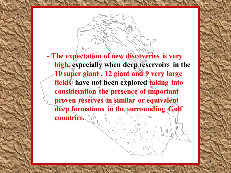 - The expectation of new discoveries is very