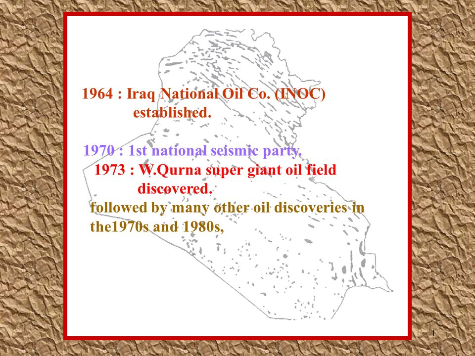 1964 : Iraq National Oil Co. (INOC)