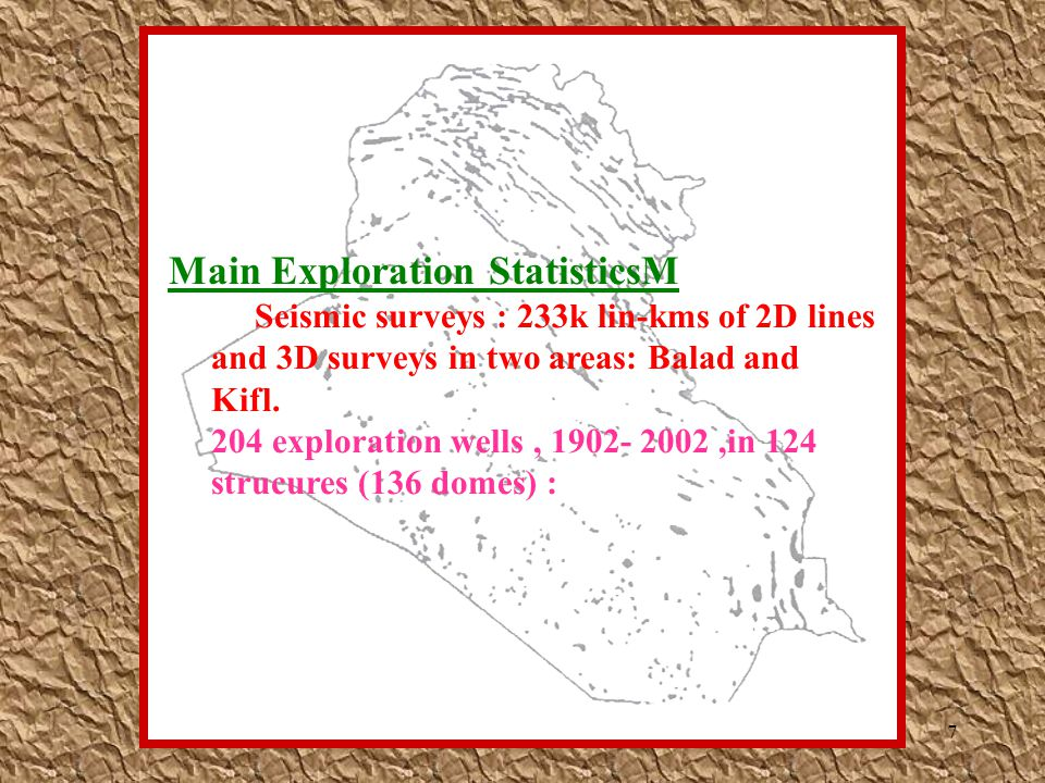 Main Exploration StatisticsM