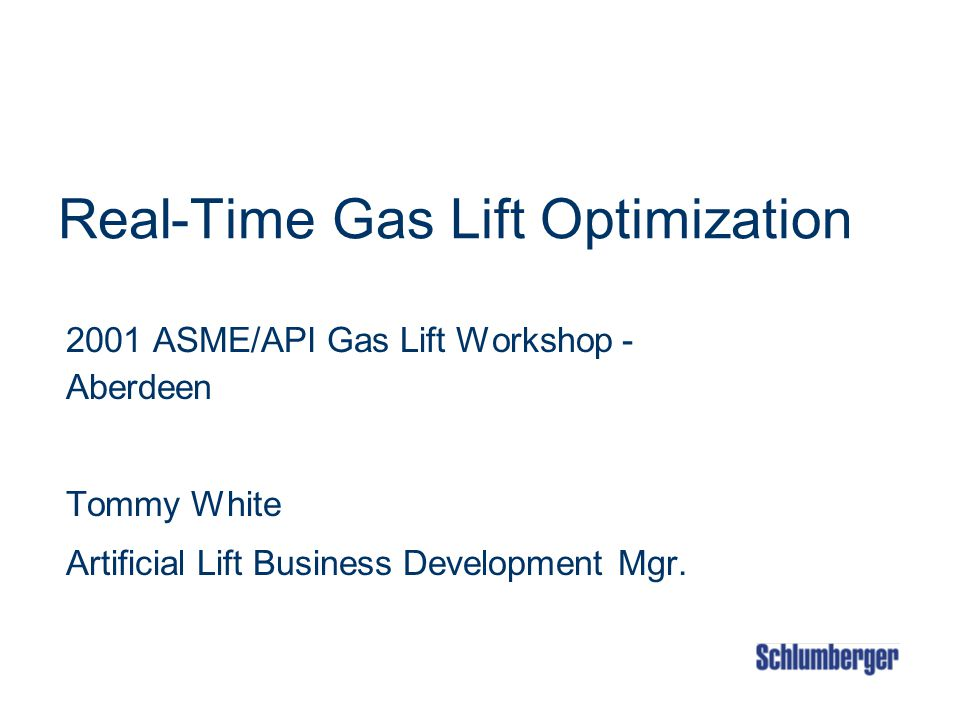 Real-Time Gas Lift Optimization