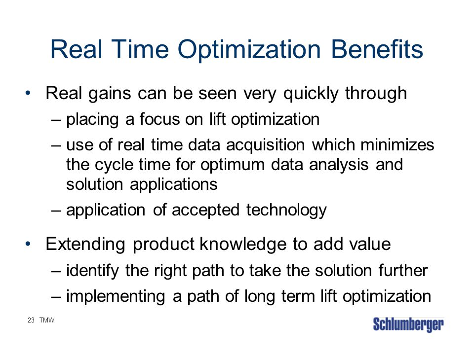 Real Time Optimization Benefits