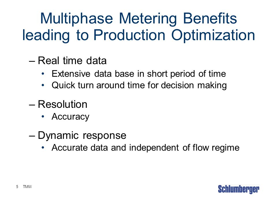 Multiphase Metering Benefits leading to Production Optimization