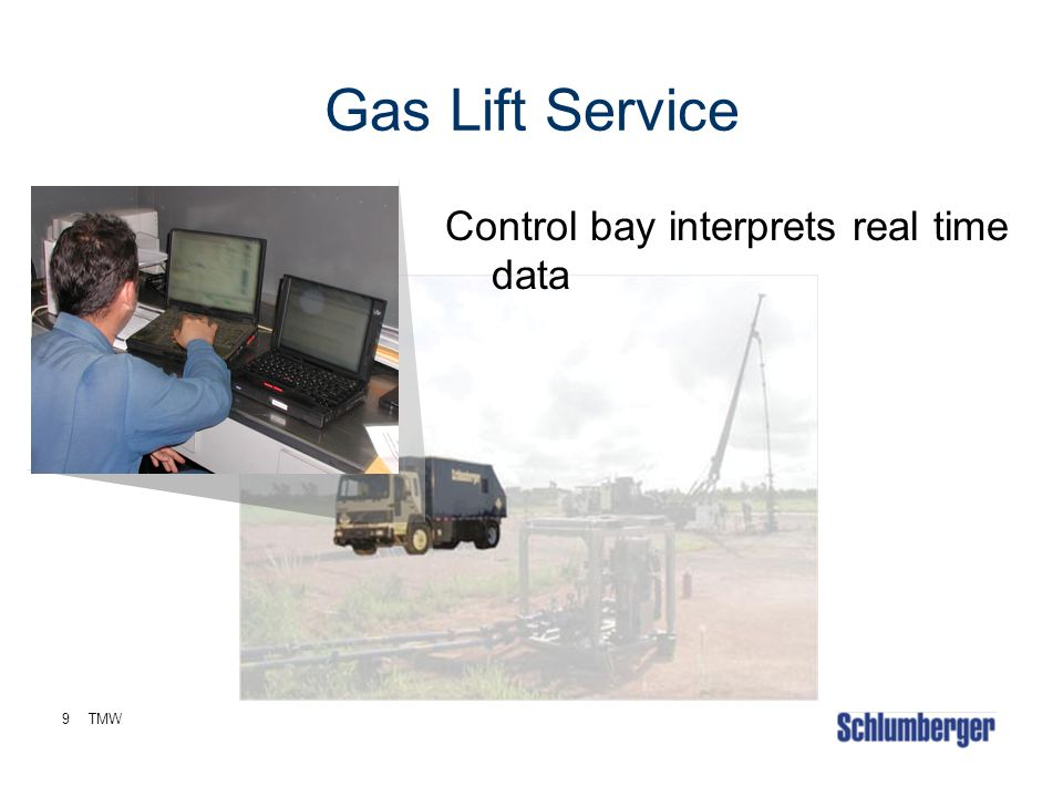 Gas Lift Service Control bay interprets real time data 9 TMW