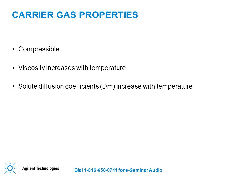 CARRIER GAS PROPERTIES