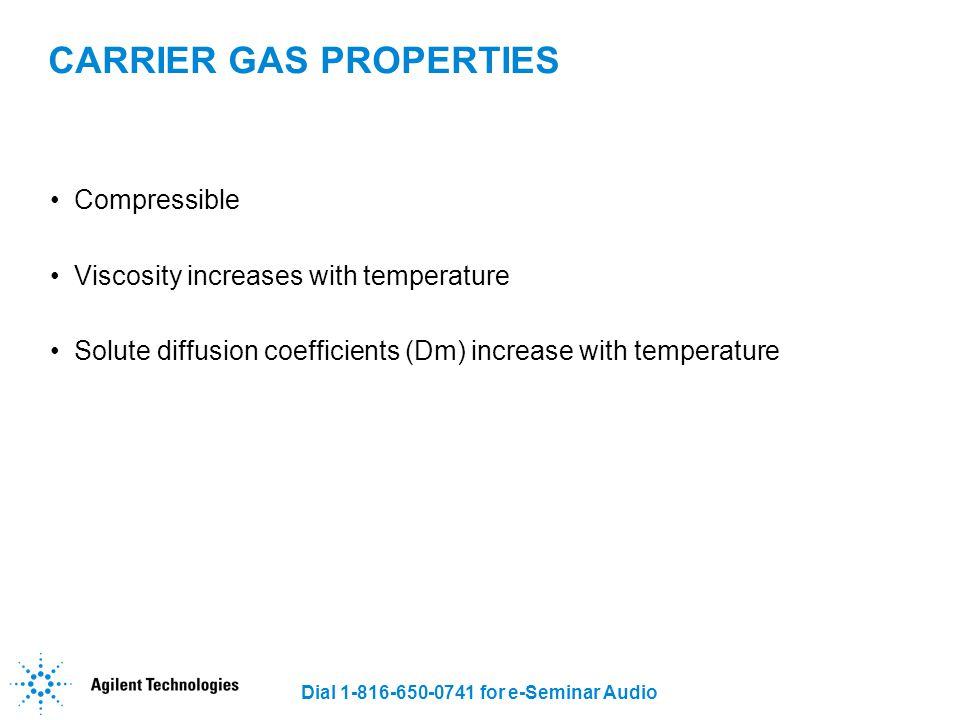 CARRIER GAS PROPERTIES