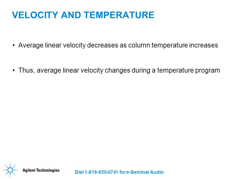 VELOCITY AND TEMPERATURE