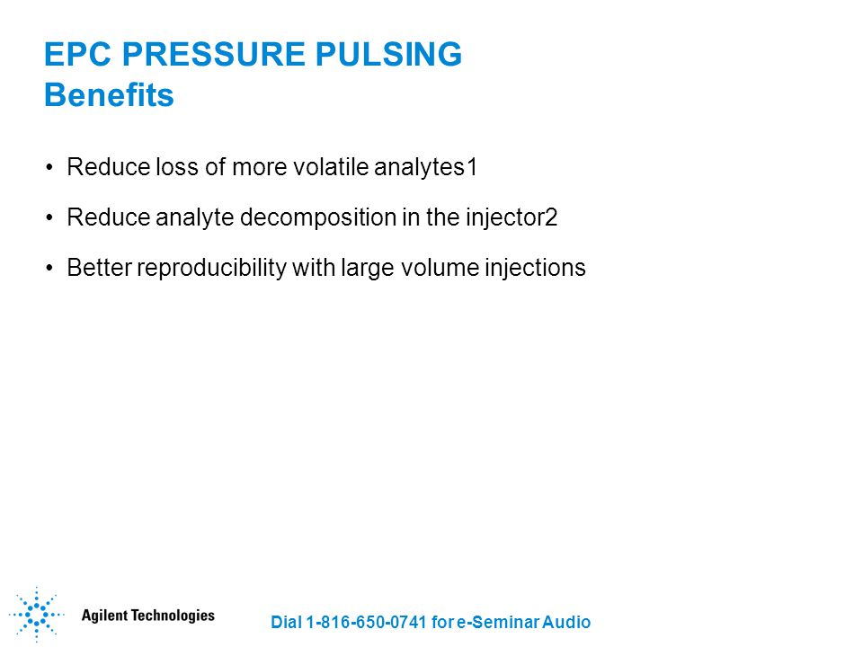 EPC PRESSURE PULSING Benefits