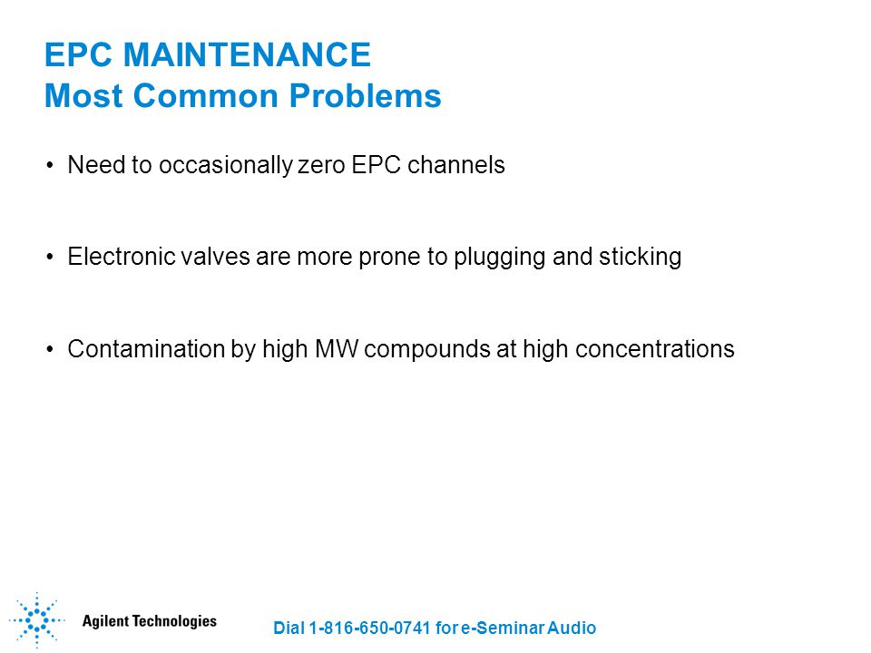 EPC MAINTENANCE Most Common Problems