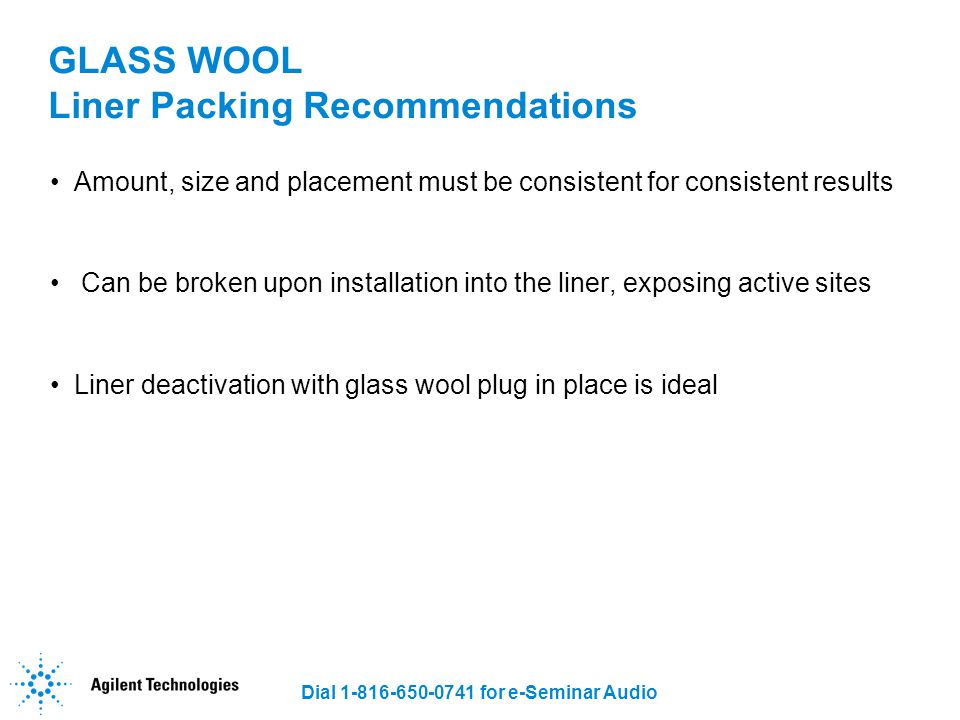 GLASS WOOL Liner Packing Recommendations