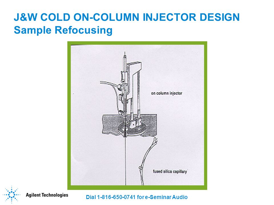 J&W COLD ON-COLUMN INJECTOR DESIGN Sample Refocusing