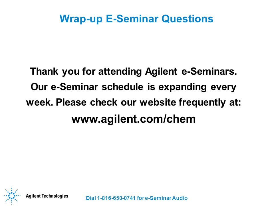 Wrap-up E-Seminar Questions