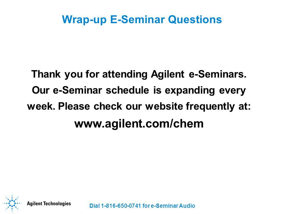 Wrap-up E-Seminar Questions