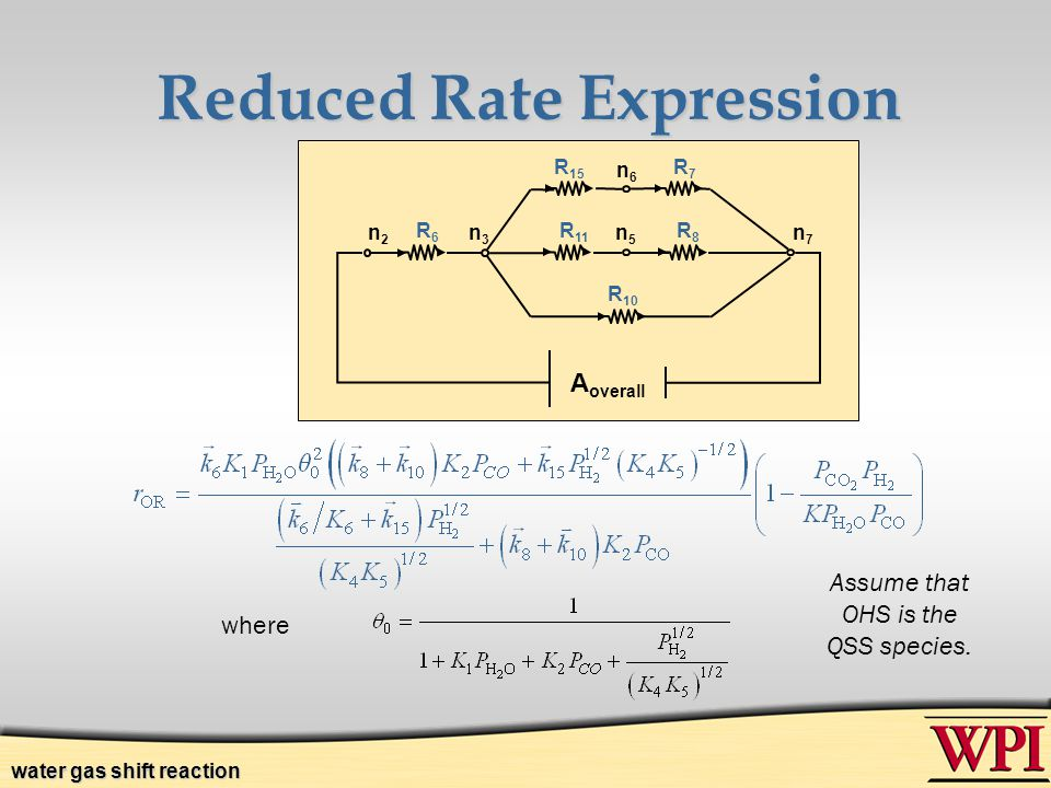 Reduced Rate Expression