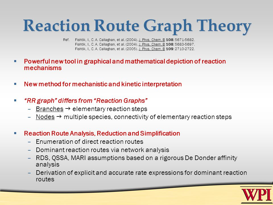 Reaction Route Graph Theory