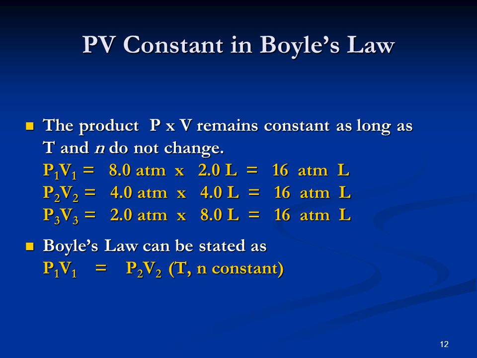 PV Constant in Boyle's Law